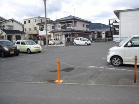 尾道市栗原東2丁目の駐車場の外観図